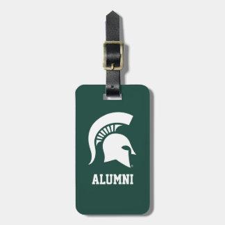 Michigan State University Spartan Helmet Logo Luggage Tag