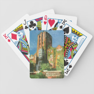 michigan union bicycle playing cards
