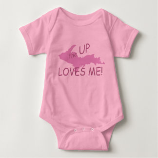 Michigan UP Loves Me Girl Infant Creeper