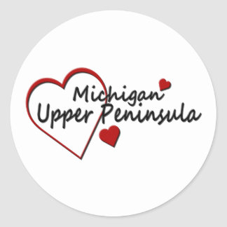 Michigan Upper Peninsula Heart Sticker