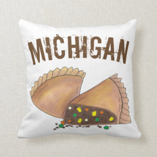 Michigan Upper Peninsula Pasty Meat Pie Foodie Throw Pillow