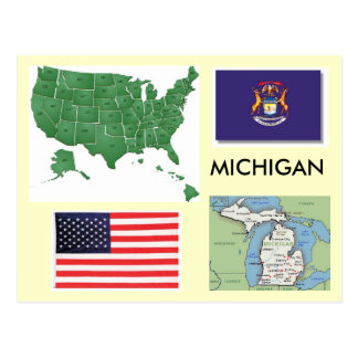 Michigan, USA Postcard