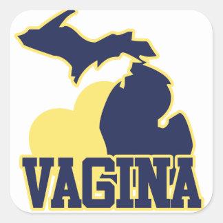 Michigan Vagina Square Sticker