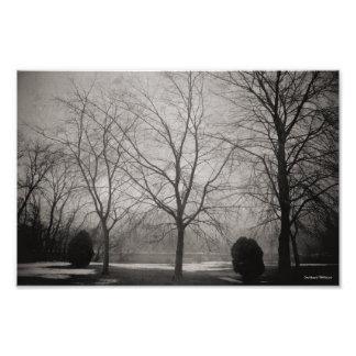 Michigan Winter River Scene Photograph