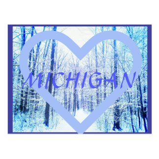 Michigan Winter Woodland postcard