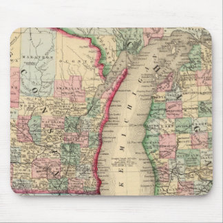 Michigan, Wisconsin Map by Mitchell Mouse Pad