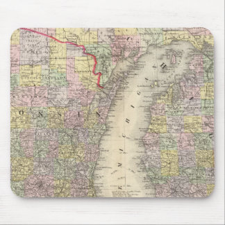 Michigan, Wisconsin Mouse Pad