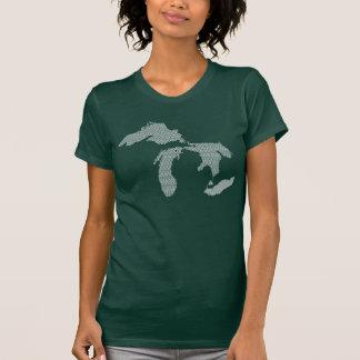 Michigan Women's Wave Design T-Shirt