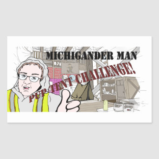 Michigander Man Pup Tent Challenge!!! Sticker