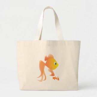 Mick the Goldfish Large Tote Bag