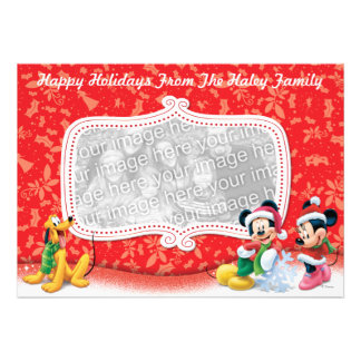 Mickey and Friends Holiday Card Personalized Invite