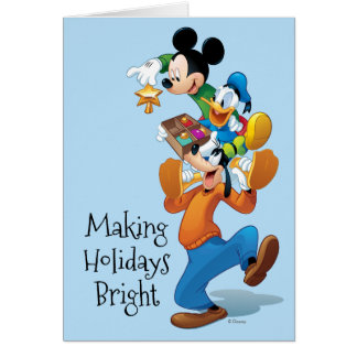 Mickey And Friends | Mickey Decorating The Tree Card