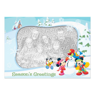 Mickey and Friends Season s Greetings Card Announcements