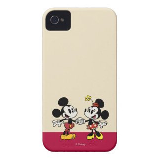 Mickey and Minnie Holding Hands iPhone 4 Cases