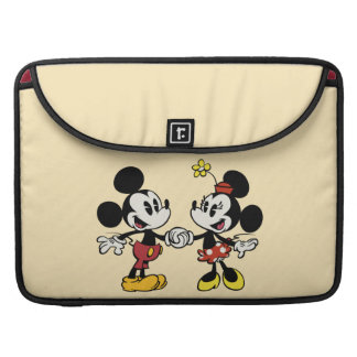 Mickey and Minnie Holding Hands Sleeve For MacBooks