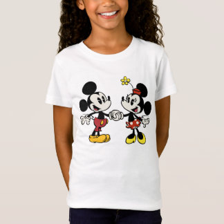 Mickey and Minnie Holding Hands T-Shirt