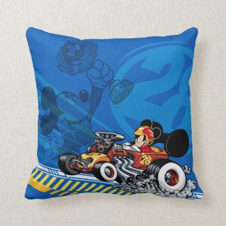 Mickey and the Roadster Racers | Speed Roadsters Throw Pillow