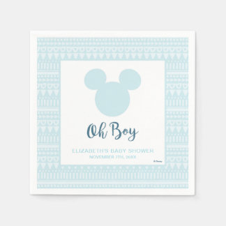 Mickey | Blue Aztec Baby Shower Disposable Napkins