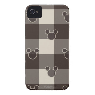 Mickey Brown Plaid Pattern iPhone 4 Case