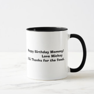 mickey bw, Happy Birthday Mommy!               ... Mug