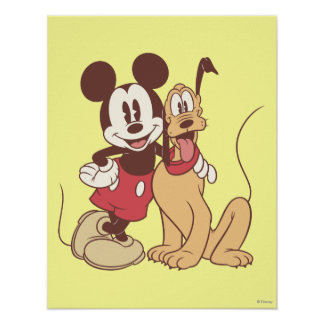 Mickey & Friends | Classic Mickey & Pluto Poster
