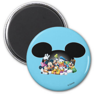 Mickey & Friends | Group in Mickey Ears 2 Inch Round Magnet