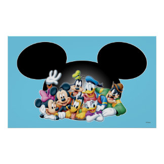 Mickey & Friends | Group in Mickey Ears 3 Poster