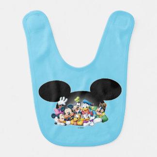 Mickey & Friends | Group in Mickey Ears Baby Bibs