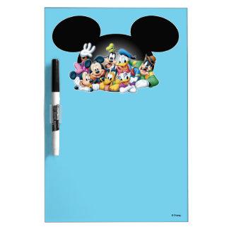 Mickey & Friends | Group in Mickey Ears Dry Erase Board