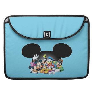 Mickey & Friends   Group in Mickey Ears MacBook Pro Sleeve