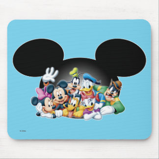 Mickey & Friends | Group in Mickey Ears Mouse Pad