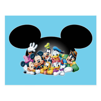 Mickey & Friends | Group in Mickey Ears Postcard