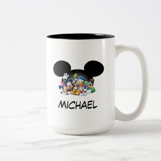 Mickey & Friends | Group in Mickey Ears Two-Tone Coffee Mug