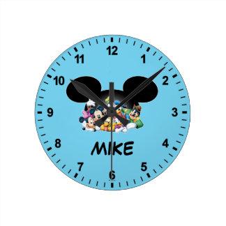 Mickey & Friends | Group in Mickey Ears Wallclocks