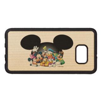 Mickey & Friends | Group in Mickey Ears Wood Samsung Galaxy S6 Edge Case