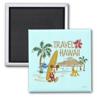 Mickey & Friends | Hawaii Square Magnet