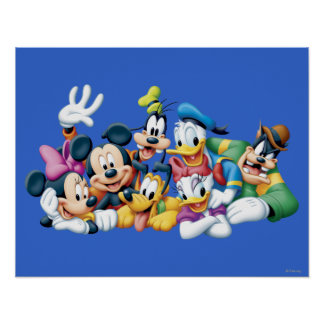 Mickey & Friends | Kneeling Poster