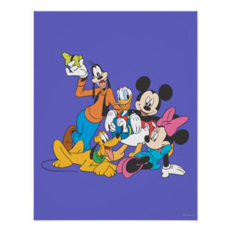 Mickey & Friends | Leaning Poster