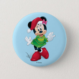 Mickey & Friends | Minnie Dressed For Christmas 2 Inch Round Button