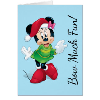Mickey & Friends | Minnie Dressed For Christmas Card
