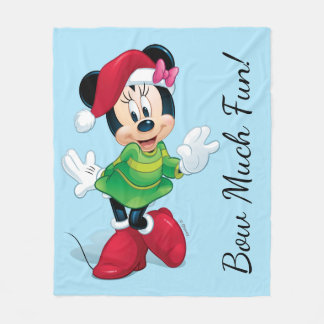 Mickey & Friends | Minnie Dressed For Christmas Fleece Blanket