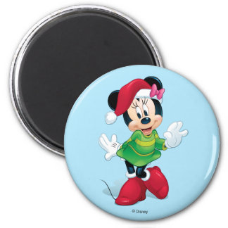 Mickey & Friends | Minnie Dressed For Christmas Magnet