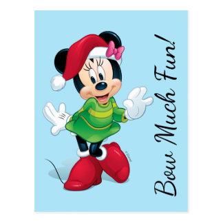 Mickey & Friends | Minnie Dressed For Christmas Postcard