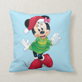 Mickey & Friends | Minnie Dressed For Christmas Throw Pillow