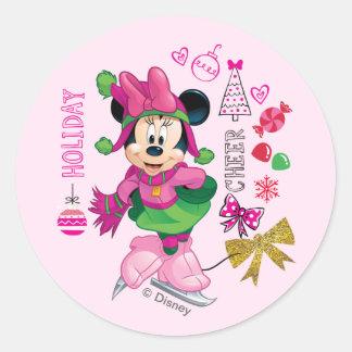 Mickey & Friends | Minnie Holiday Cheer Classic Round Sticker