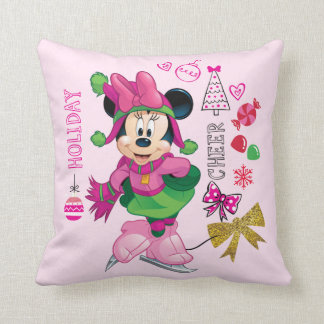Mickey & Friends | Minnie Holiday Cheer Throw Pillow