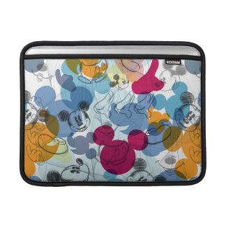 Mickey & Friends | Mouse Head Sketch Pattern MacBook Air Sleeves