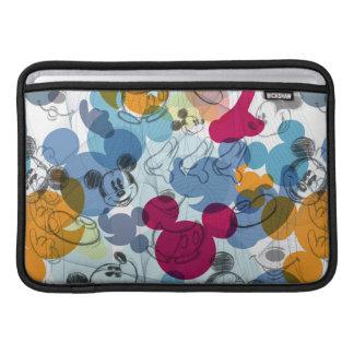 Mickey & Friends | Mouse Head Sketch Pattern MacBook Sleeves