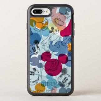 Mickey & Friends   Mouse Head Sketch Pattern OtterBox Symmetry iPhone 7 Plus Case