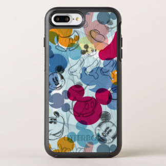 Mickey & Friends | Mouse Head Sketch Pattern OtterBox Symmetry iPhone 8 Plus/7 Plus Case
